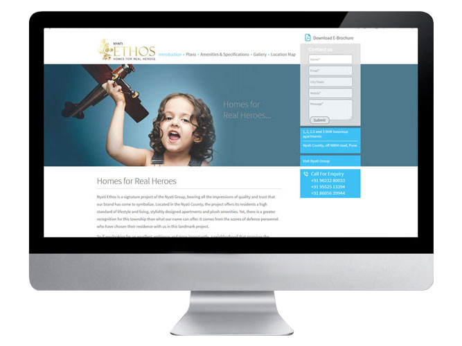 Nyati Website Project inner page