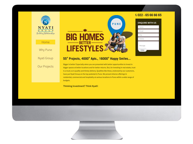 Nyati Mumbai Website Home page